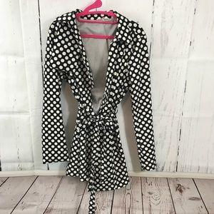 Jackets & Blazers - Polka dot trench coat L NWOT